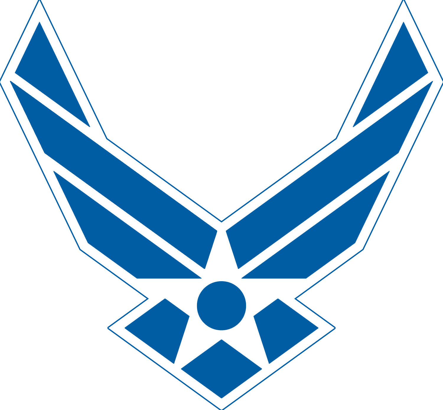 You and the air force where you fit in airman family the air force symbol air force logo blue with white outline no text biocorpaavc