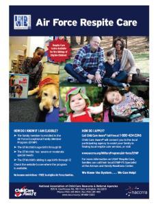 Air Force Respite Care